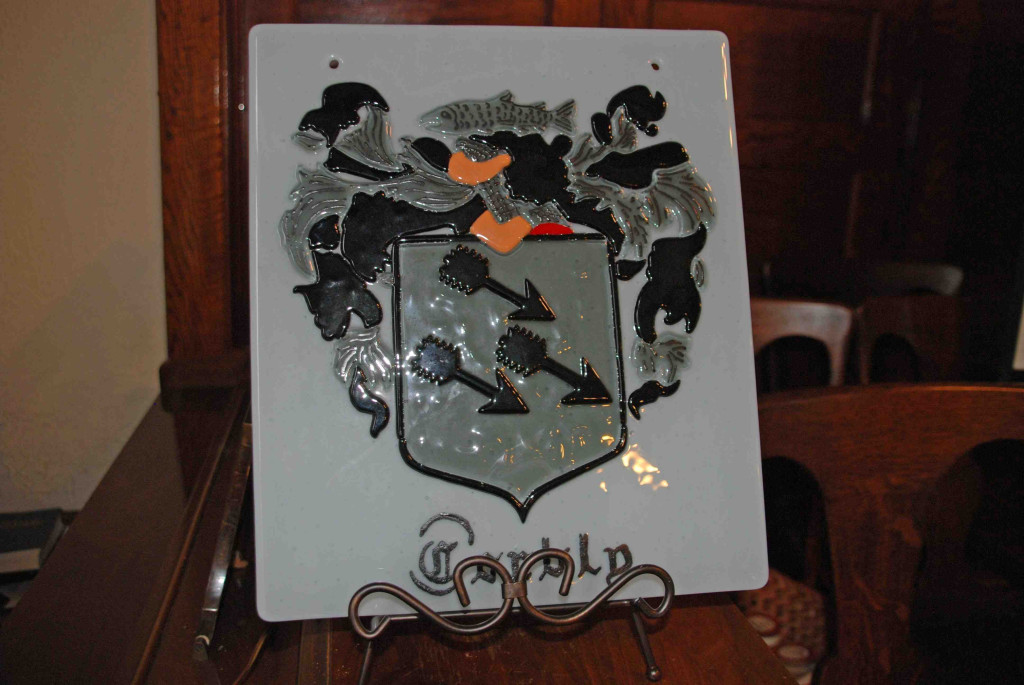 Corbly Crest on display at Church