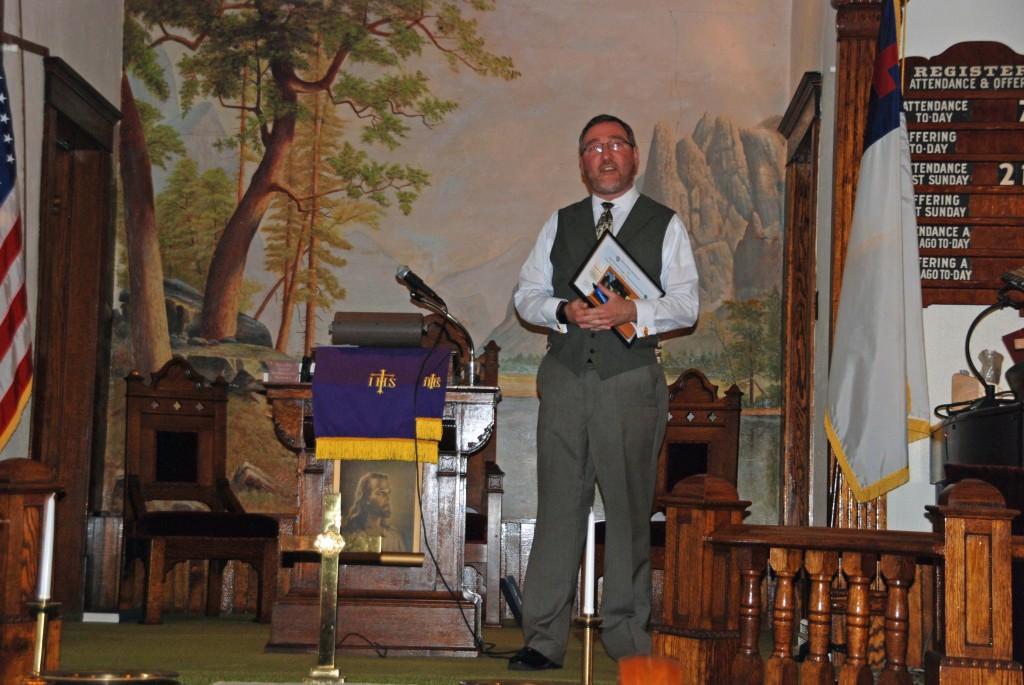 Church Recognition presenter,Dr.Jeff Johnson